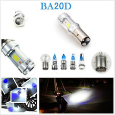 BA20D 18W White/Blue LED COB Motorcycle Bikes Headlight Hi/Lo Bulb Fog Lamp DRL