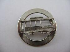 Silver Tone Vintage Trolley Car Pin Brooch