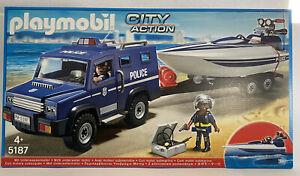 Playmobil 5187 City Action Polizei Truck mit Speedboot | NEU & OVP
