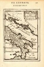 Antica ITALIA del Sud. MAGNA Grecia. ancienne Italie meridionale. Martello 1683 Mappa