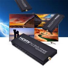 HD 1080P HDMI 4x1 Quad Multi-Viewer Seamless Switcher Video 4Ch Splitter US Plug