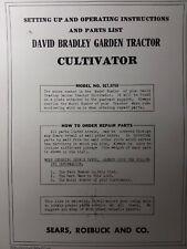 David Bradley Garden Tractor Cultivator Implement Owner Amp Parts Manual 9175755