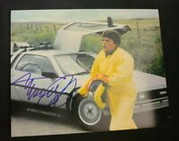 MICHAEL J FOX SIGNED 11X14 PHOTO BACK TO THE FUTURE YELLOW SUIT COA+PROOF WOW