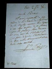 Parizot - Victor Parizot  autographed signed letter composer classical