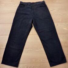 NEXT JEANS Men's Loose Fit Black Jeans Size 34 Modified Leg Length 27 inch