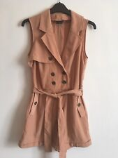Sparkle & Fade Trench Playsuit. Peach Small Urban Outfitters Jumpsuit Romper