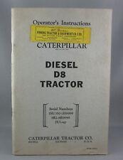 CATERPILLAR DIESEL D8 TRACTOR 1H1350-1H9999 8R1-8R9999 2U1-up Operator's Instruc