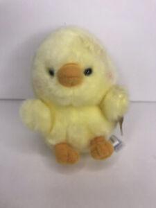 "Aurora Yellow Baby Bird Chickadee Chick plush Eco Friendly Mini 5"" NEW Stuffed"