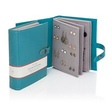 Seconds The Little Book of Earrings Storage 48 Pairs 9 Colours Large Gift Teal