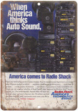 "Radio Shack Realistic CB AM/FM Car Stereo 10"" x 7"" Reproduction Metal Sign D48"