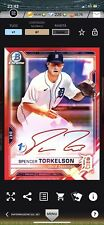 Topps Bunt Iconic MLB Spencer Torkelson Bowman Red 1st Edition Signature Tigers