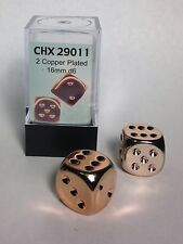 Copper 16mm 6 Sided Dice (2 ea in Box) by Chessex Dice Chx 29011