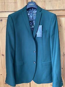 Ben Sherman Teal Mod Skinny Fit Suit Chest L42 38REG