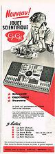 PUBLICITE ADVERTISING  1960   GEGE   jeux jouets scientifiques