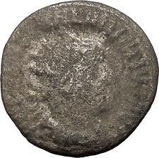 VALERIAN I 253AD Viminacium mint  Billon Silver Roman Coin Virtus Cult  i36016