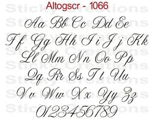 #1066 CUSTOM TEXT Script Lettering Sticker Vinyl Name Customized Decal Altogscr
