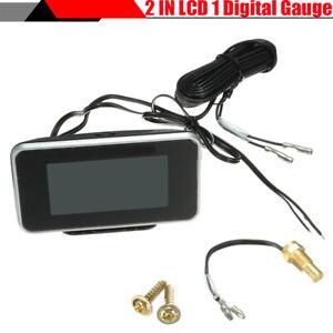 2 IN 1 LCD Digital Display Car Water Temperature Gauge Voltmeter With M10 Sensor