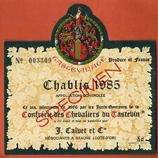 1985-Etiquette de Vin-Confrérie de Chevaliers du Tastevin-Chablis -n°204