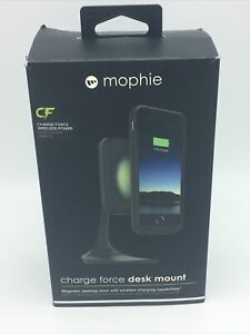 Mophie Charge Force Desk Mount - Qi Enabled Magnetic Dock With Wireless Charging