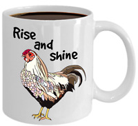 Chicken Mug Gift For Chicken Lover Friend Farmhouse Coffee Tea Cup Rise Shine