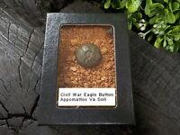 Rare Vintage Civil War Eagle Button in Appomattox Virginia Confederate Camp Soil