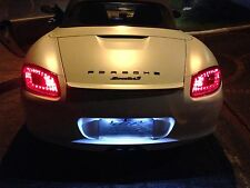 Porsche Boxster 987 Cayman  Red / Clear  LED Tail Lights 2005 to 2008