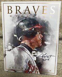 Chipper Jones 2018 Souvenir Program / Magazine Atlanta Braves - 2nd edition