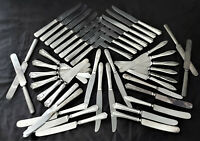 45 pc SILVERPLATE KNIVES reuse repurpose recovery craft jewelry FLATWARE dinner