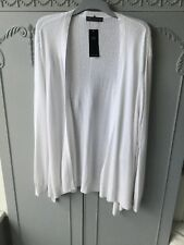 M&S Collection Size 24 Soft White Open Cardigan With Linen Bnwt