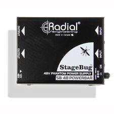Radial Engineering StageBug SB-48 Microphone Active DI Box Phantom Power Supply