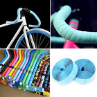 2 X Cycling Road Bike MTB Sports Cork Handlebar Rubber Foam Tape+ 2 Bar plug
