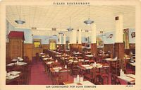 Philadelphia Pennsylvania 1940s Postcard Tilles Restaurant & Bar Interior