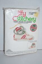 Jiffy Merry Mouse in a Sneaker Ornament Embroidery Kit NEW Vintage 1978