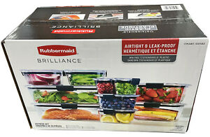 Rubbermaid Brilliance Food Storage Container Set - 20 Pieces, Clear # 1531582