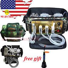 MOBILE Portable Messenger Bag Dental Unit oilless Air Compressor Suction system