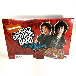 The Naked Brothers Band VIP Concert Tour Board Game MB Nickelodeon Sealed