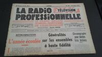 Journal Monthly La Radio Professional N°190 December 1950 ABE