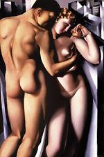 tamara de lempicka adam and eve art deco era nouveau print 50 x 75 cm NEW