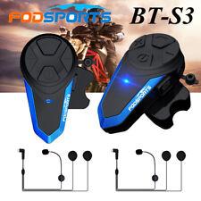BT-S3 Intercom Motorcycle Bluetooth Headset Helmet Interphone 3 Riders Fodsports