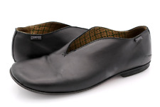Camper Womens 6.5 Black Leather Casual Slip On Flats Shoes EUR 37