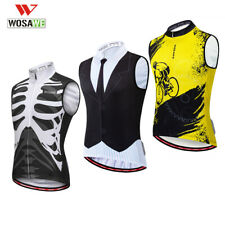 Sleeveless Cycling Jersey Summer Breathable Riding Bike Vest Bicycle Shirt Mens