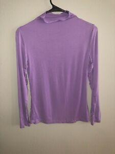 Women's Juniors long sleeve purple base layer size M