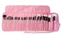 32PCS Pro Soft Cosmetic Eyebrow Shadow Makeup Tools Brush Set Kit + Pouch Bag KK