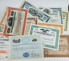Group of (50) Vintage & Antique Misc. Mixed Stock Certificates