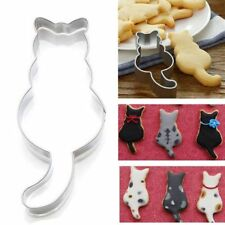 Cat Shaped Stainless Steel Biscuit Cookie Cutter Cake Decor Baking Mold Tool