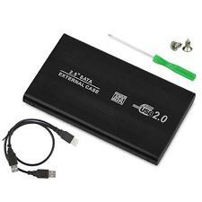 "2.5"" External HDD SSD USB 2.0 Hard Disk SATA Drive Enclosure Case Caddy Black AU"