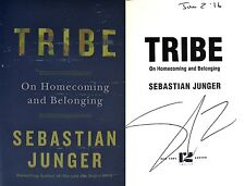Sebastian Junger~SIGNED & DATED~TRIBE: On Homecoming & Belonging~1st/1st+Photos!