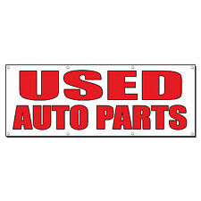 USED AUTO PARTS Auto Body Shop Car Repair Banner Sign 4 ft x 2 ft /w 4 Grommets