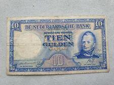 10 gulden 1945 Netherlands banknote