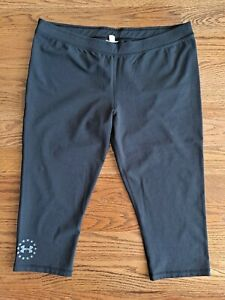 Under Armour Running Athletic Cropped Sweat Pants Women's Size L/XL Black EUC